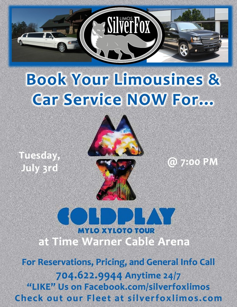 Coldplay Concert Charlotte Transportation Limo Service