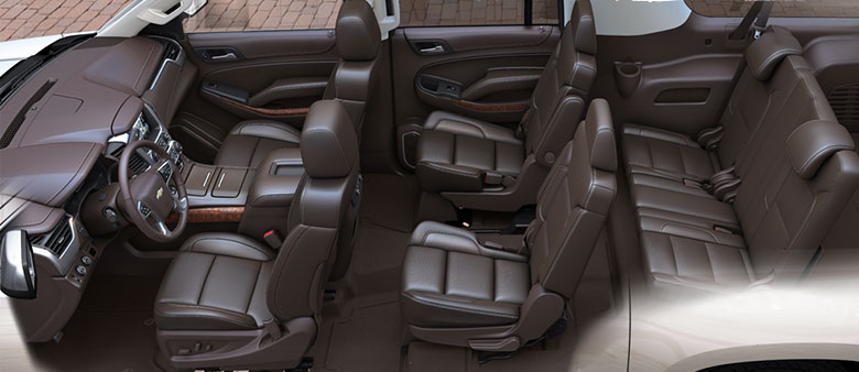 Chevy Suburban Interior 8 Seater